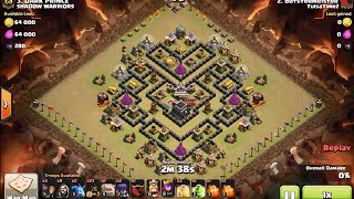 "How to 3 star town hall nine ""V Moats"" base using GoHoWiWi - clash of clans Th9 war attack"