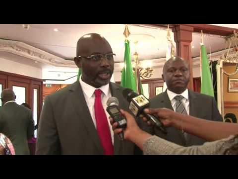 Senator Weah meeting with Gabon president