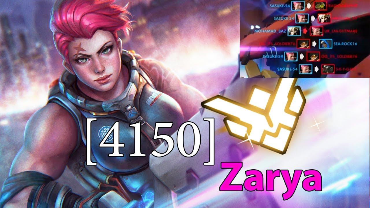 [S4 4150SR] Overwatch Zarya رانك كومبتتف اوفر واتش دعس توب 500 ft , sea-rock16 Mohamad_baz