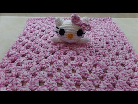 CROCHET How To #Crochet Hello Kitty Lovey Blanket #TUTORIAL #314 LEARN CROCHET
