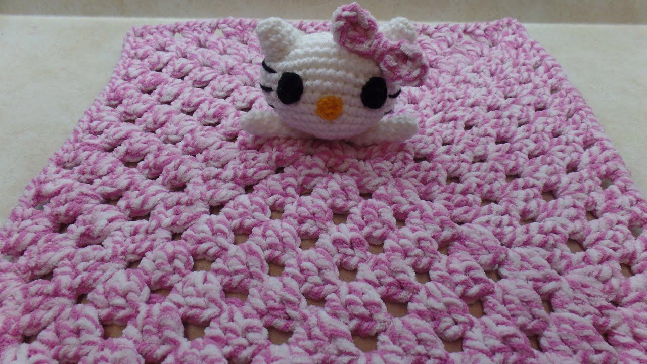 Crochet How To Crochet Hello Kitty Lovey Blanket