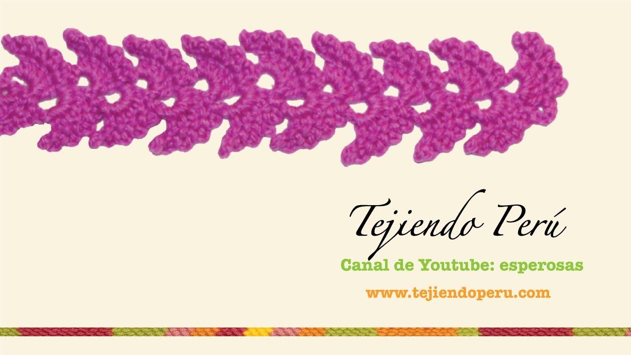 Cenefa para aplicar tejida en crochet 2 youtube - Cenefas para pared ...