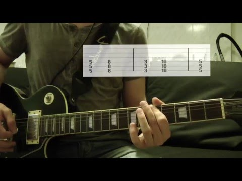 Linkin Park - What I've Done Guitar Cover w/Tabs on screen