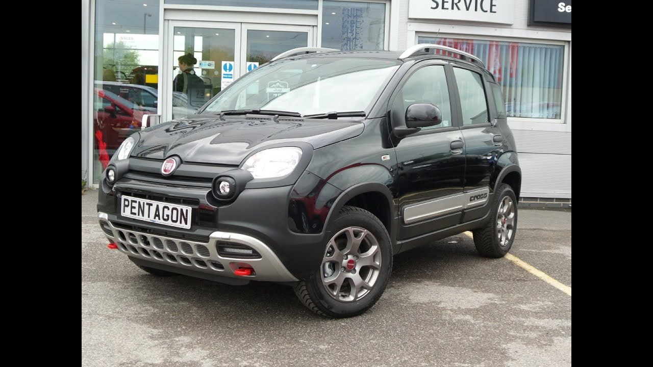 2016 16 fiat panda 0 9 twinair 90 cross 4x4 5dr delivery miles in black youtube. Black Bedroom Furniture Sets. Home Design Ideas