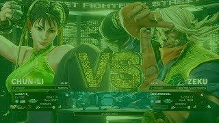 SFV AE mrh6718 (Chun Li) vs Wolfkrone (Zeku)