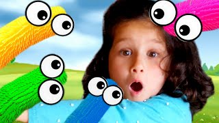 Colors song for children and nursery rhymes for kids // Alice pretend play with magic caterpillars
