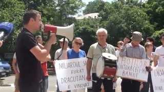 Al doilea protest la Banca Națională pentru miliardul furat