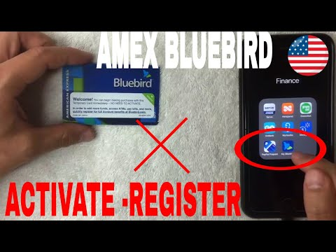 ✅  How To Activate And Register American Express Bluebird Prepaid Card 🔴