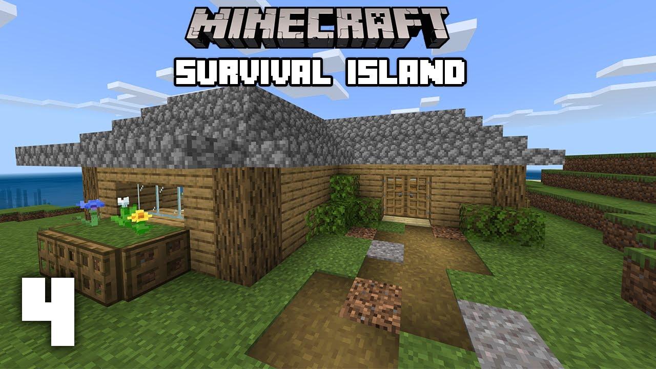 Minecraft Starter House Build Survival Island 4 Youtube
