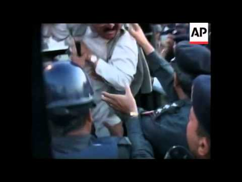 Bhutto's husband returns to Pakistan, supporters arrested