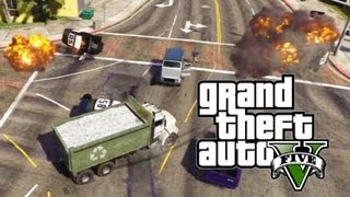 GTA 5 -  DUMP TRUCK RAMPAGE and Fun With C4 (Unstoppable)
