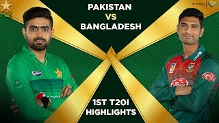 Pakistan vs Bangladesh 2020 | Full Highlights | 1st T20I | PCB