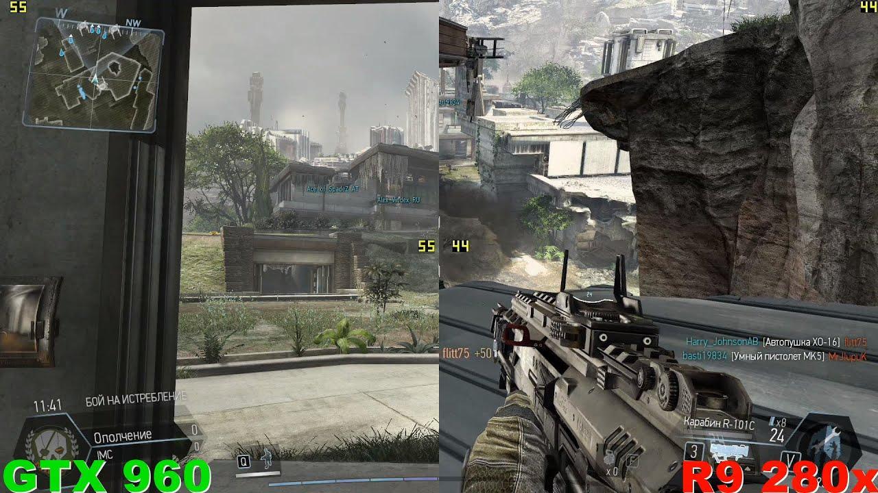 GTX 960 против R9 280x в Titanfall 1080p60