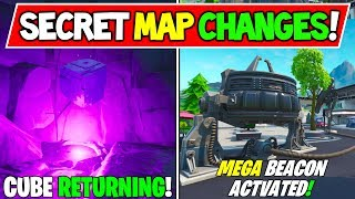 "*NEW* FORTNITE SECRET MAP CHANGES ""Why The CUBE is Returning!"" + Mega Mall Beacon? - Season X Story!"