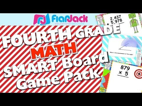 4th Grade Smart Board Math Game Pack