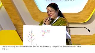 Ovvoru Pookalume Tamil song by KS Chithra at IIS 2018