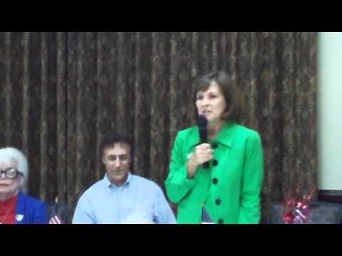 Judge Ann Marie Calabria Campaigns in Franklin, NC