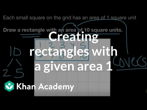 Creating rectangles with a given area 1 | Math | 3rd grade |