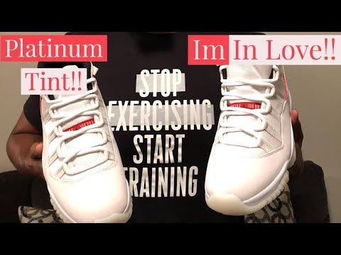 Jordan 11 Platinum Tint Review and Unboxing