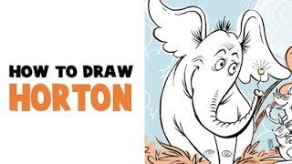 How to Draw Horton the Elephant from Horton Hears A Who.