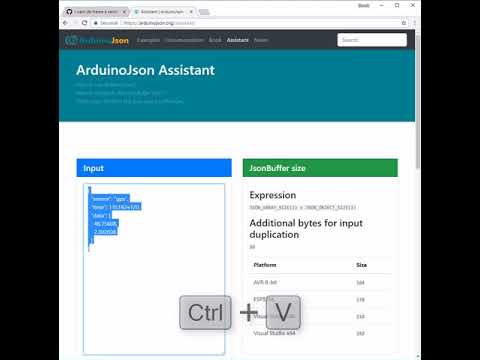 How to use the ArduinoJson Assistant