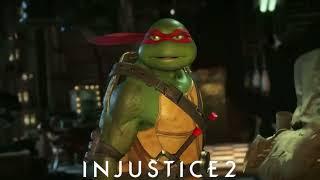 Injustice 2: Raphael vs Batman & Michelangelo vs Starfire Intro Dialogue