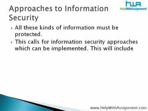PPT Presentation On Information Security Principles