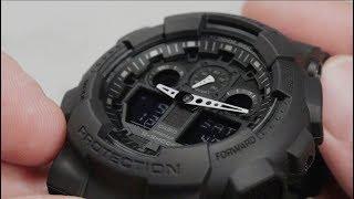 Обзор наручных часов CASIO G-SHOCK GA-100-1A1 - видеообзор от интернет-магазина MinutaShop.ru