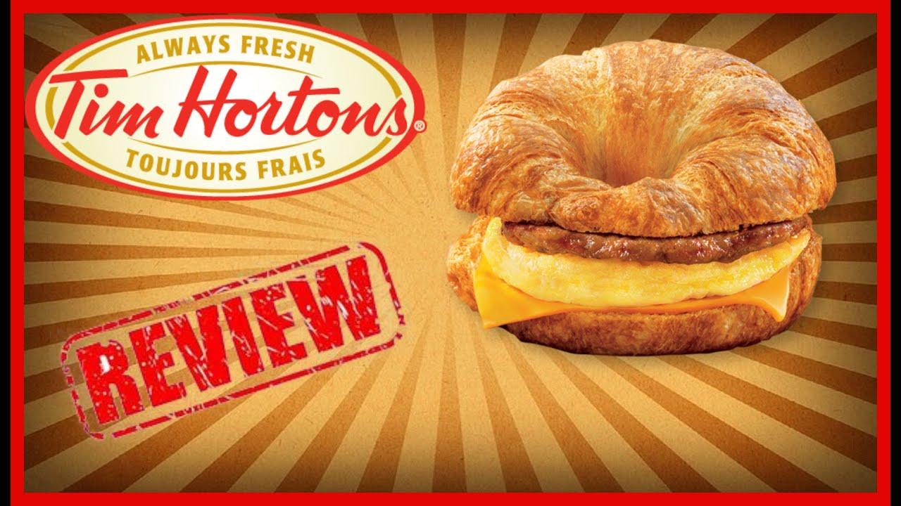 tim horton new croissant breakfast sandwich review june 29th