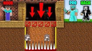 Minecraft Battle: NOOB vs PRO vs HACKER : SUPER HOUSE TRAP Challenge in Minecraft Animation