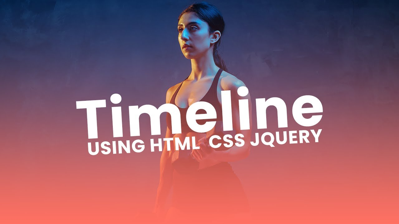 How To Create Timeline Design using HTML, CSS and jQuery