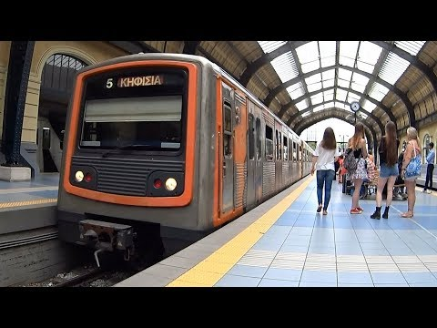Athens Metro Ride Line 1 Piraeus - Kifissia World's Oldest Metro #8