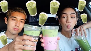 TRYING TOP RATED MATCHA LATTES IN LA
