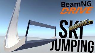 BeamNG Drive - Ski Jumping Cars! - Biggest Jump in BeamNG!! - (BeamNG Drive Gameplay Highlights)
