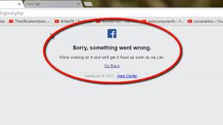 3  facebook error sorry something went wrong sorry something went wrong