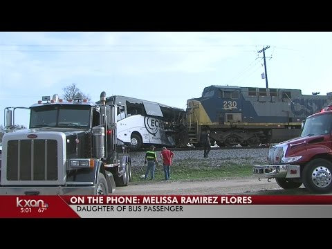 4 killed, 35 injured after train hits charter bus from Austin