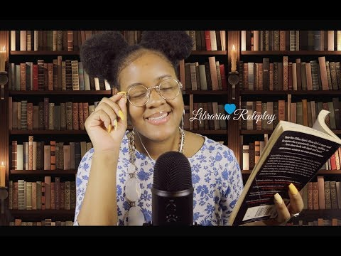 ASMR Library Roleplay (Typing, Book Tapping) ~