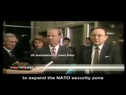 """Abmachung 1990: """"Keine Osterweiterung der NATO""""    Aussenminister Genscher & Baker"""
