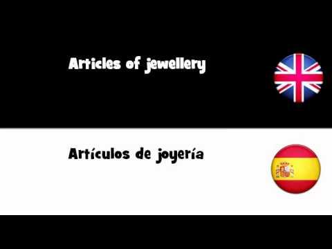 f832fb527213 APRENDER INGLÉS   Artículos de joyería - YouTube