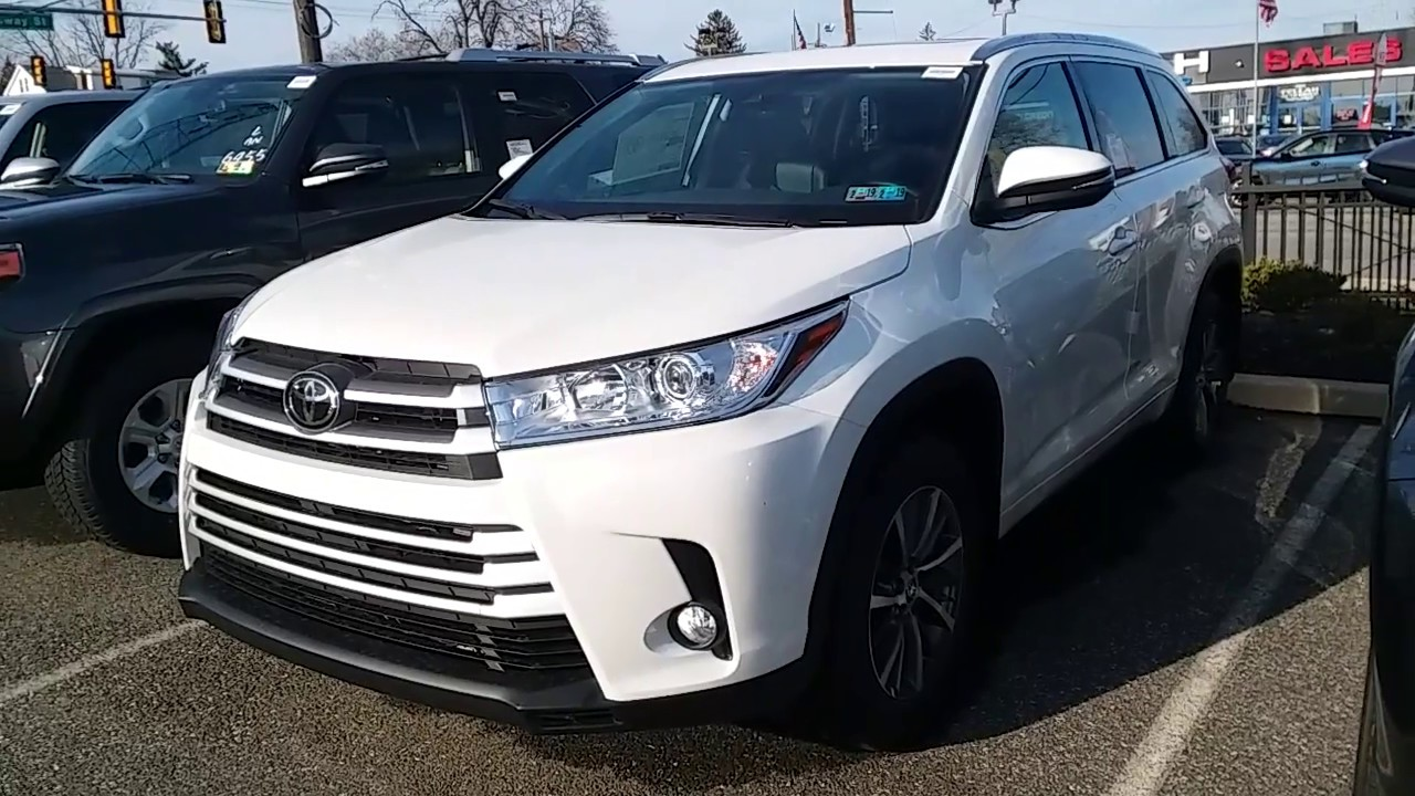 Sloane Toyota Of Philadelphia >> 2018 Toyota Highlander XLE - Blizzard Pearl - YouTube