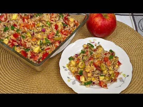 Sałatka z Ryżem Tuńczykiem i Pomidorami   Zdrowa  i pyszna sałatka