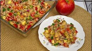 Sałatka z Ryżem Tuńczykiem i Pomidorami | Zdrowa  i pyszna sałatka