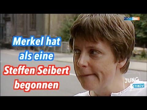 Angela Merkel war früher selbst eine Steffen Seibert