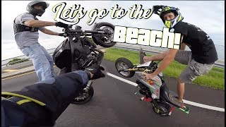Beach Stunt Ride - Grom's Takeover!