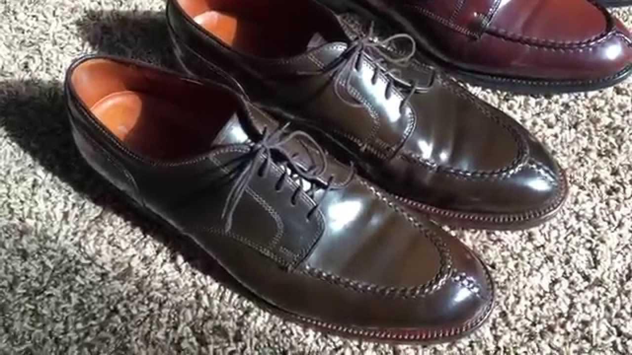 best service c0e03 4fd0b allen edmonds shell cordovan scarpe