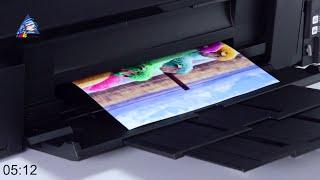 Стресс-тест принтера Epson L1800: печать фотографий А3. Качество