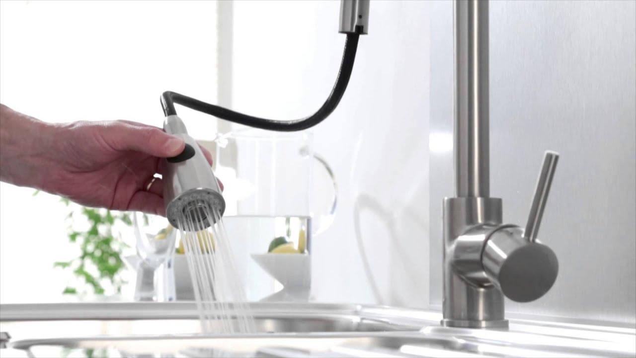 Rubinetto miscelatore monocomando lavello cucina con for Miscelatore cucina ikea
