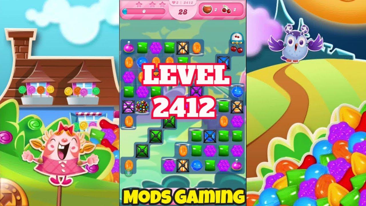 Candy Crush Saga Level 2412 Gameplay #Shorts 🍬  @MODS GAMING