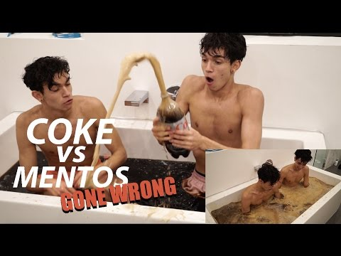 COKE VS MENTOS BATH CHALLENGE GONE WRONG!