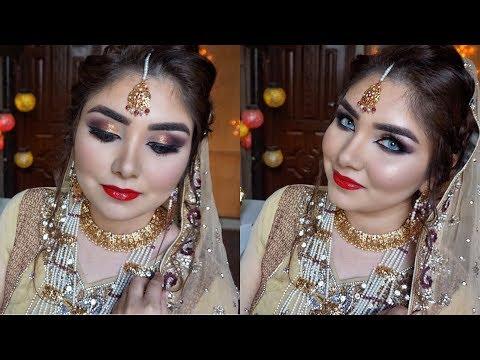 Bridal Makeup by Nishoo Khan in Urdu/Hindi